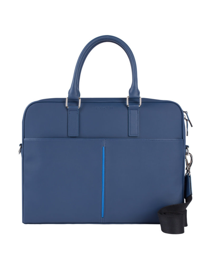 BUGATCHI UOMO LEATHER BRIEFCASE
