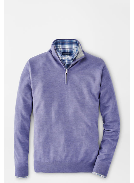 PETER MILLAR CASHMERE-SILK QUARTER ZIP