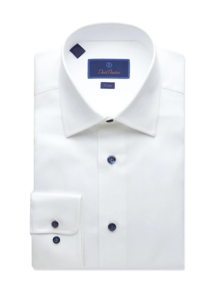 DAVID DONAHUE TEXTURED DRESS SHIRT