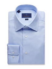 DAVID DONAHUE ROYAL OXFORD DRESS SHIRT
