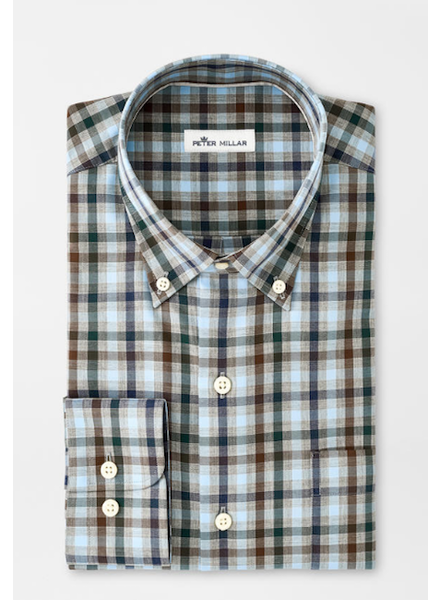 PETER MILLAR PLAID SHIRT