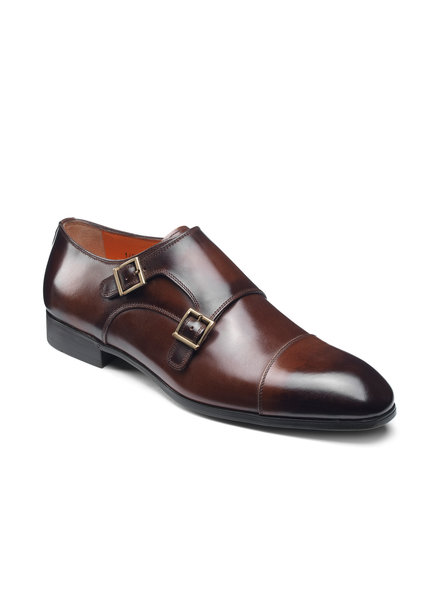 SANTONI INCA DOUBLE MONK SHOES