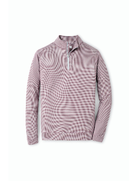 PETER MILLAR HOUNDSTOOTH QUARTER ZIP
