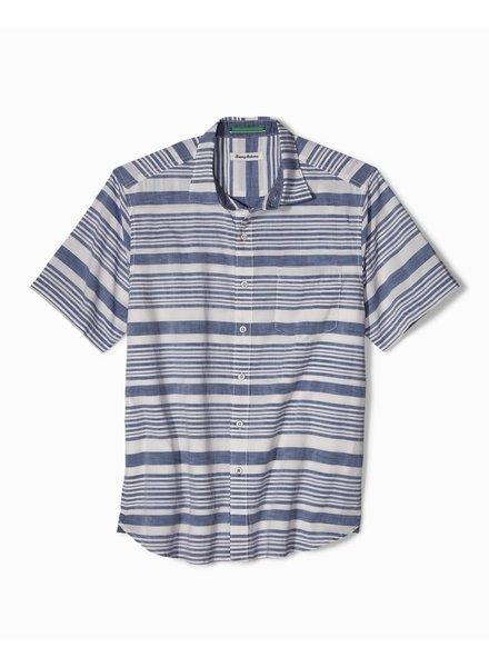 TOMMY BAHAMA SHORT SLEEVE STRIPED SHIRT