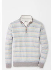 PETER MILLAR STRIPED QUARTER ZIP