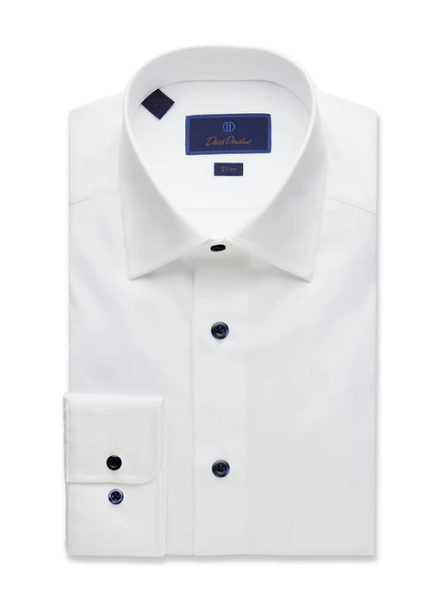 DAVID DONAHUE SLIM FIT DRESS SHIRT
