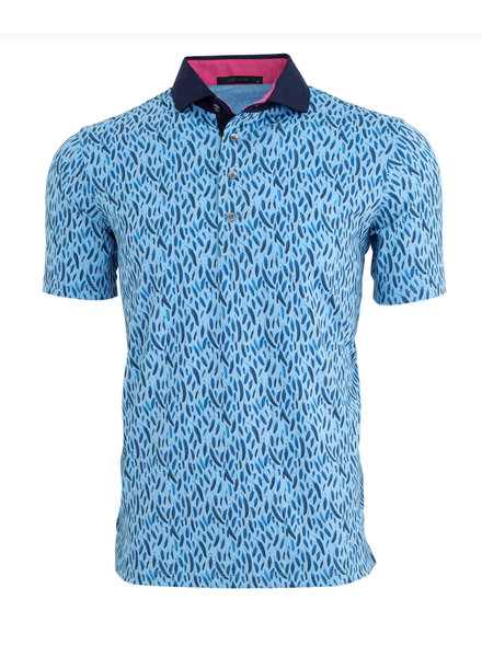 GREYSON CLOTHIERS FEATHER PRINT POLO