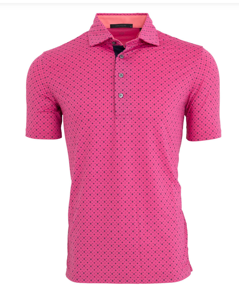 GREYSON CLOTHIERS LOGO PRINT POLO