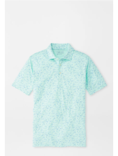 PETER MILLAR FISH PRINT POLO