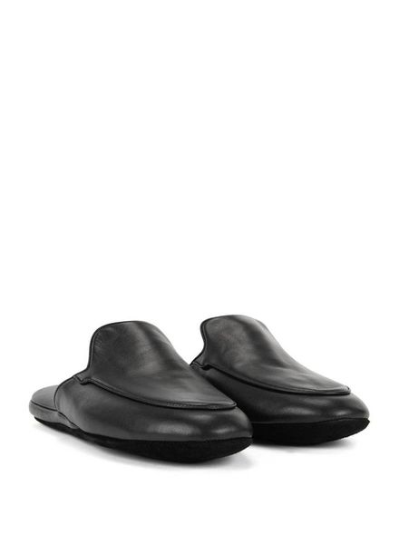 HUGO BOSS LEATHER SLIPPERS
