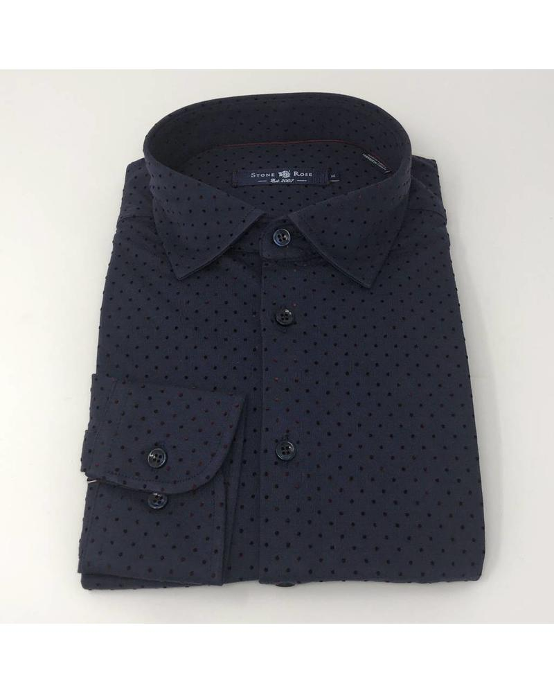 STONE ROSE JERSEY STRETCH POLKA DOT SHIRT