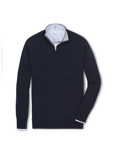 PETER MILLAR CASHMERE QUARTER-ZIP MOCK