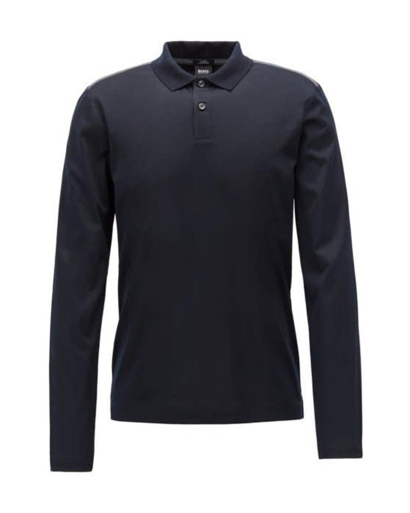 HUGO BOSS SLIM-FIT LONG SLEEVED POLO SHIRT