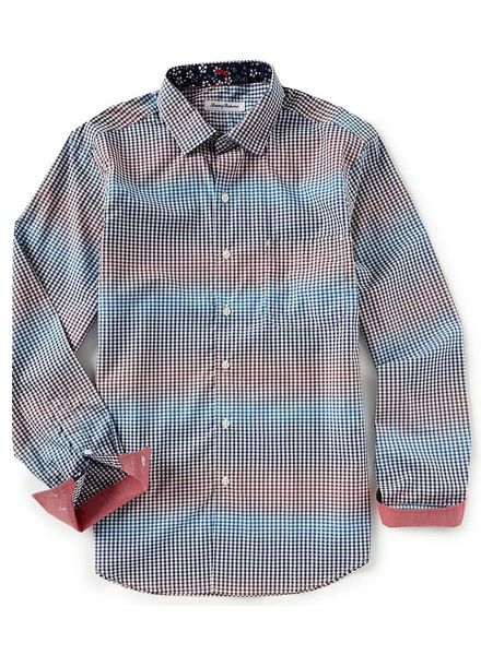 TOMMY BAHAMA PIMA COTTON CHECK SHIRT