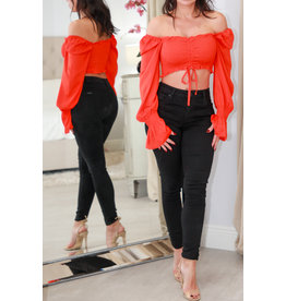 1107 Orange Crop Top