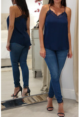 4581 Navy Lace Top