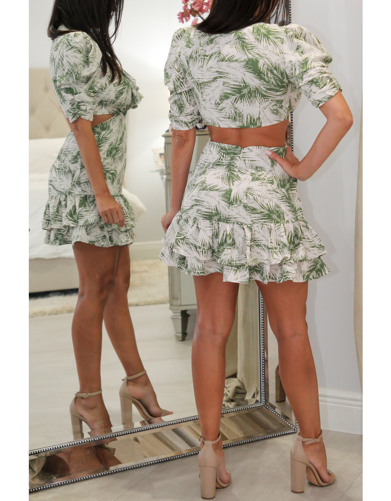 3165 Ruffle Print Dress