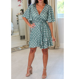 17410 Olive Wrap Dress Romper