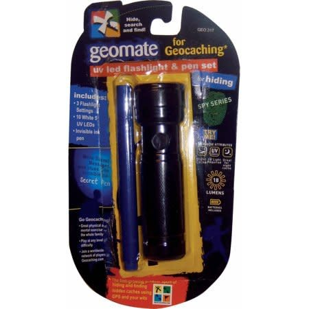 Geomate Geocaching UV LED Flashlight & Pen Set