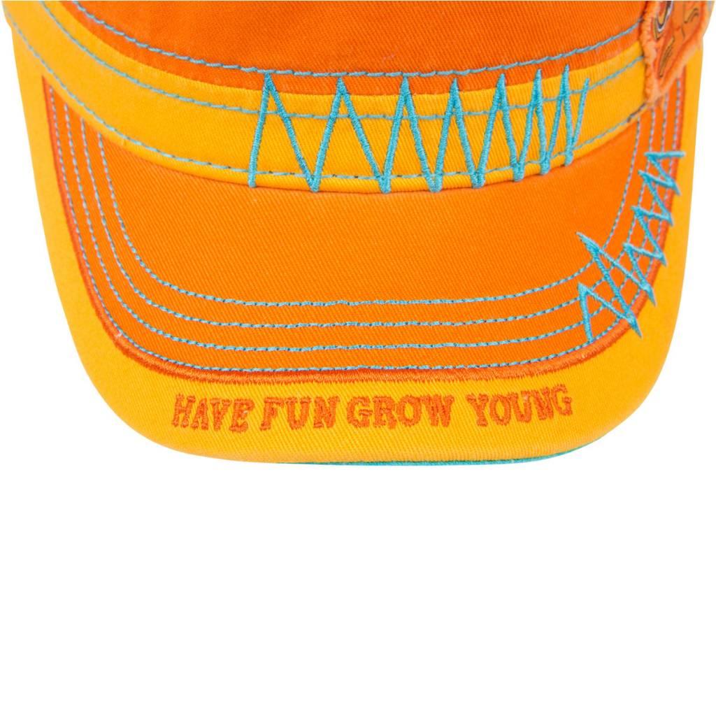 Morsel Munk Fidel Hat Have Fun Grow Young Orange