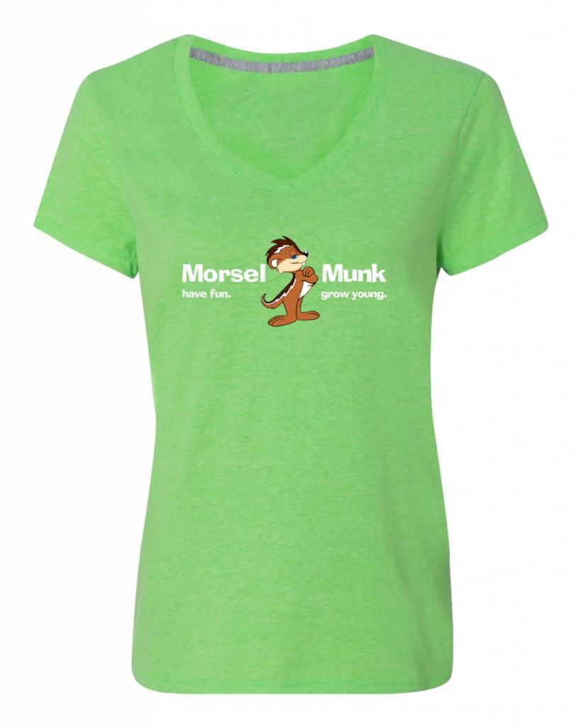 Morsel Munk HFGY Green V-Neck T-Shirt