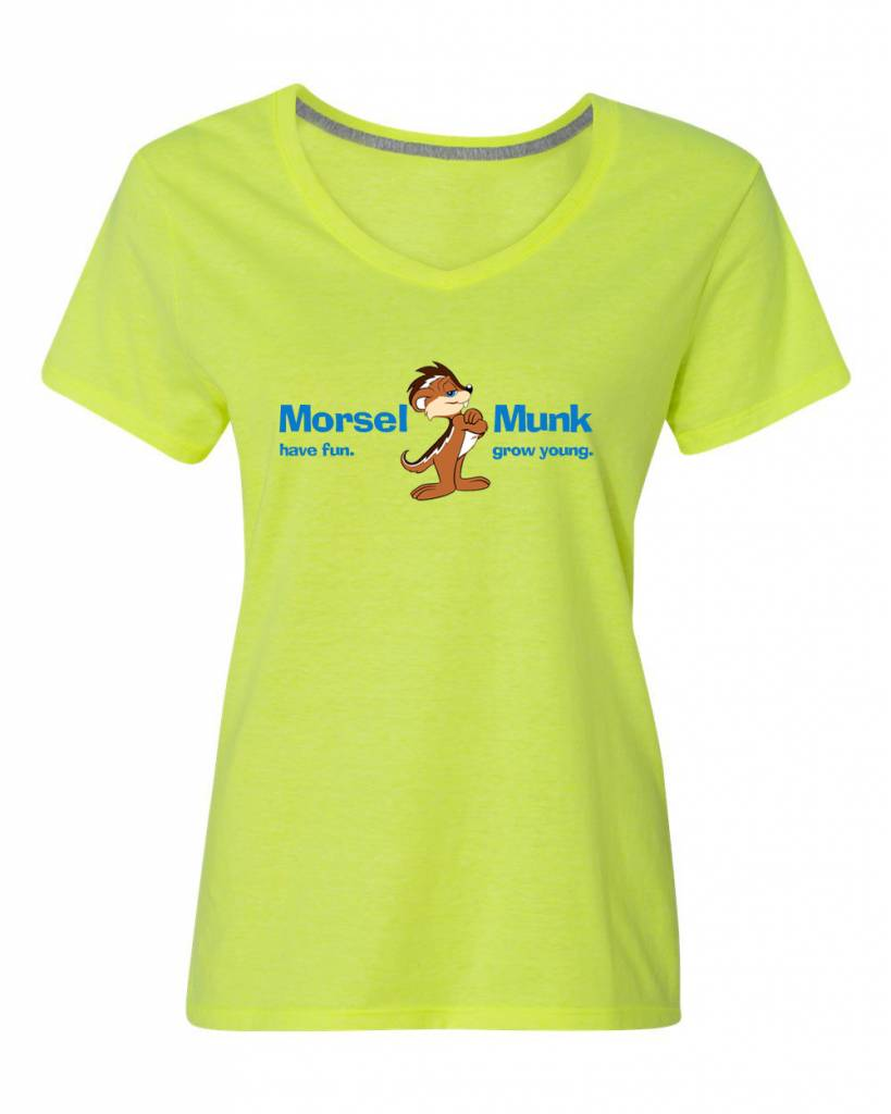 Morsel Munk HFGY Yellow V-Neck T-Shirt