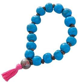Simbi Haiti Large Clay Bead Bracelet With Tassel