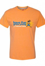 Morsel Munk Have Fun Grow Young Tee - Orange