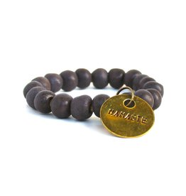 Simbi Haiti Simbi Glazed Lava Slate Clay Beads Bracelet