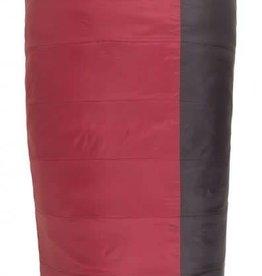 Big Agnes Encampment Synthetic Sleeping Bag - Regular Right Rectangular Mateable; Pad Sleeve; Purple/Red