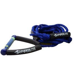 HYPERLITE 20' Wakesurf Rope Blue W/Handle