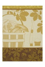 Le Jacquard Français Le Jacquard Français - Tea towel Panier d'automne Lichen 60x80