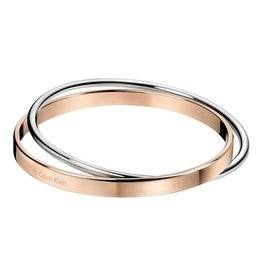 Calvin Klein Calvin Klein - Two-tone steel/gold plate Small Coil Bangle