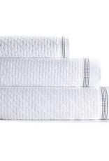 Le Jacquard Français Le Jacquard Francais  - Drap Douche Couture Bath Towel 27x55 Blanc