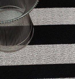 Chilewich Chilewich - Bold Stripe Shag Black/White 24x36