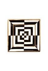 Jonathan Adler Jonathan Adler - Plateau Op Art Square Noir/Blanc