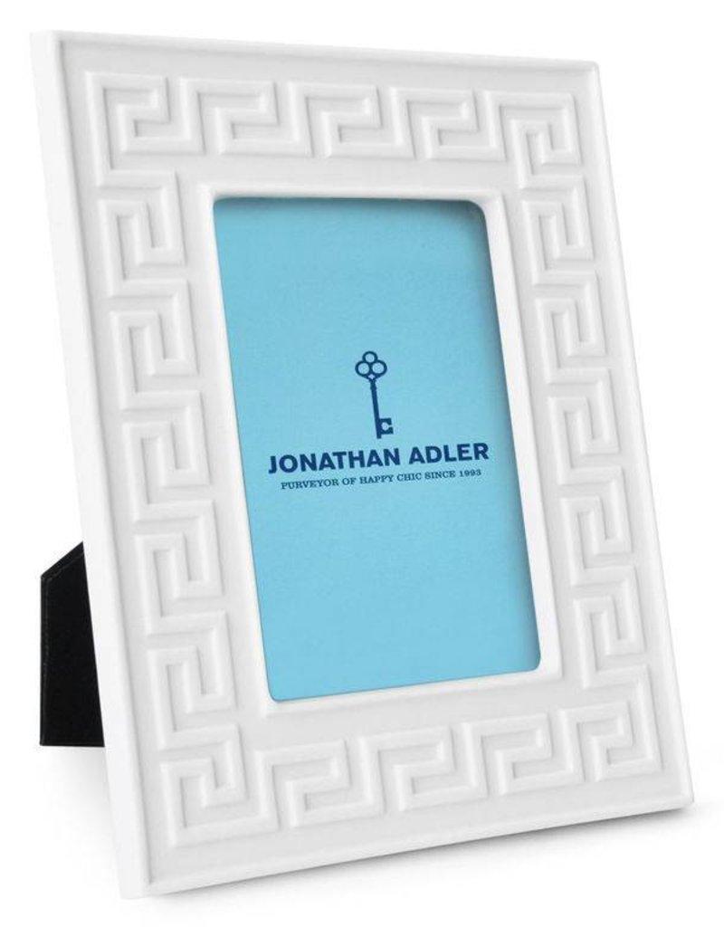 Jonathan Adler Jonathan Adler - Cadre Charade Greek Key Blanc 4x6