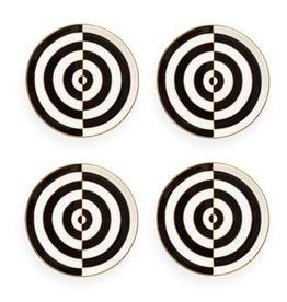 Jonathan Adler Jonathan Adler - Op Art Coasters Black/White