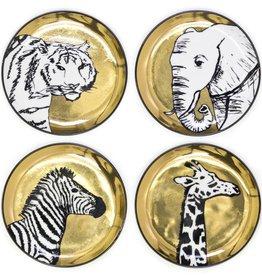 Jonathan Adler Jonathan Adler - Animalia Coasters Gold/Blk