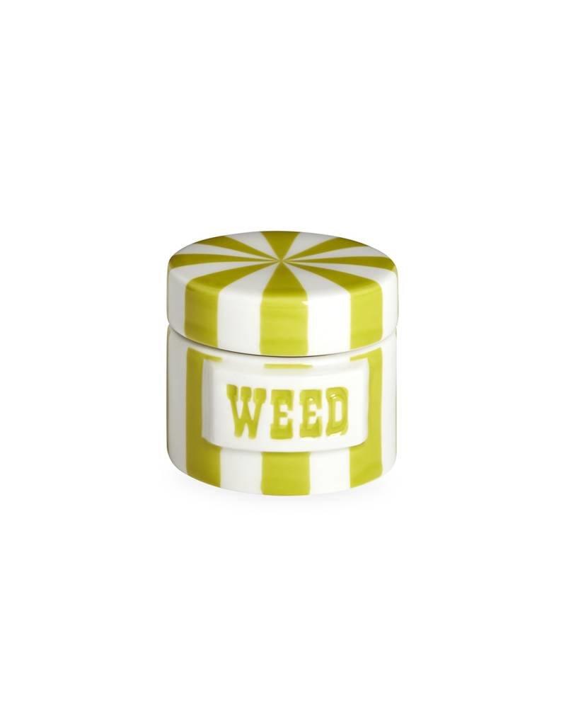 Jonathan Adler Jonathan Adler - Boîte à Cannabis Lime/Blanc