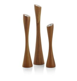 NAMBE Nambe - Grove Candlesticks (set of 3)
