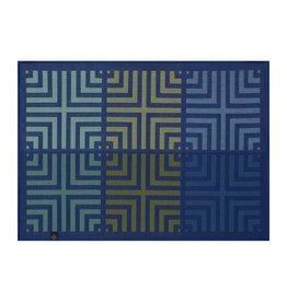 Le Jacquard Français Le Jacquard Francais - Napperon Kaleidoscope Illusion Bleu