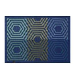 Le Jacquard Français Le Jacquard Francais - Napperon Kaleidoscope Vibration Bleu