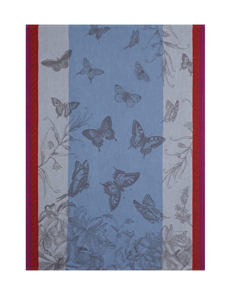 Le Jacquard Français Le Jacquard Francais - Torchon Jardins Papillons Muscaris/Blue