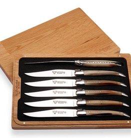 LAGUIOLE en Aubrac LAGUIOLE en Aubrac - Set de 6 couteaux de table, pointe de corne