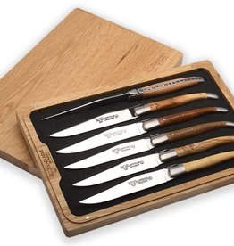LAGUIOLE en Aubrac LAGUIOLE en Aubrac - 6 steak knives mixed woods