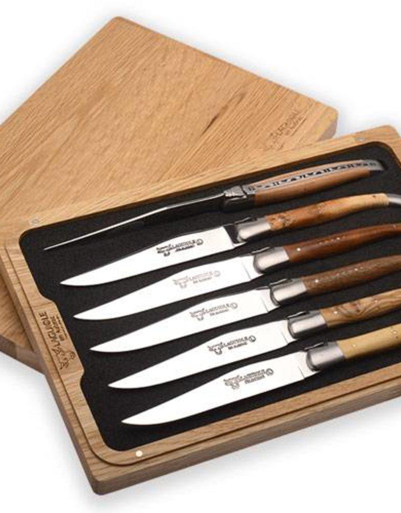 LAGUIOLE en Aubrac LAGUIOLE en Aubrac - 6 steak knives mixed woods
