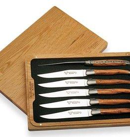 LAGUIOLE en Aubrac LAGUIOLE en Aubrac - Set de 6 couteaux de table en genévrier