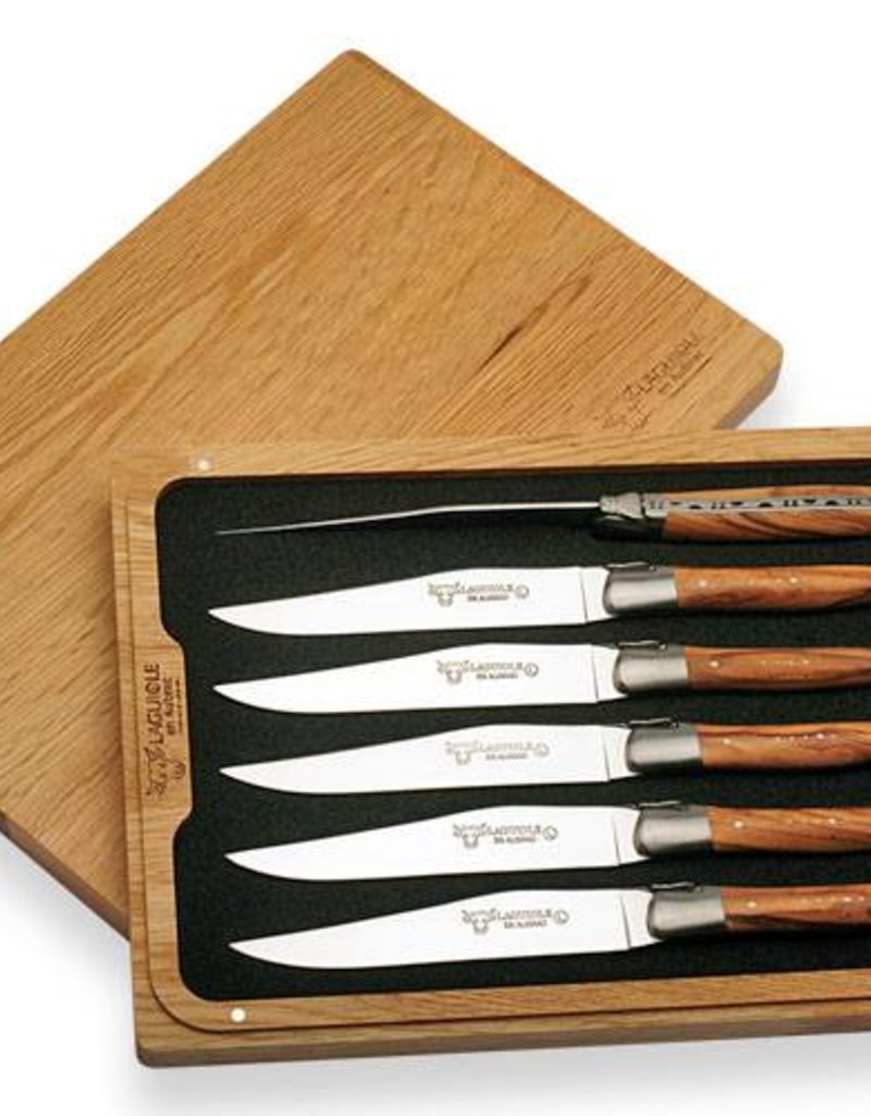 LAGUIOLE en Aubrac LAGUIOLE en Aubrac - Couteaux à Steak Genéfrier/6 Steak Knives Juniper