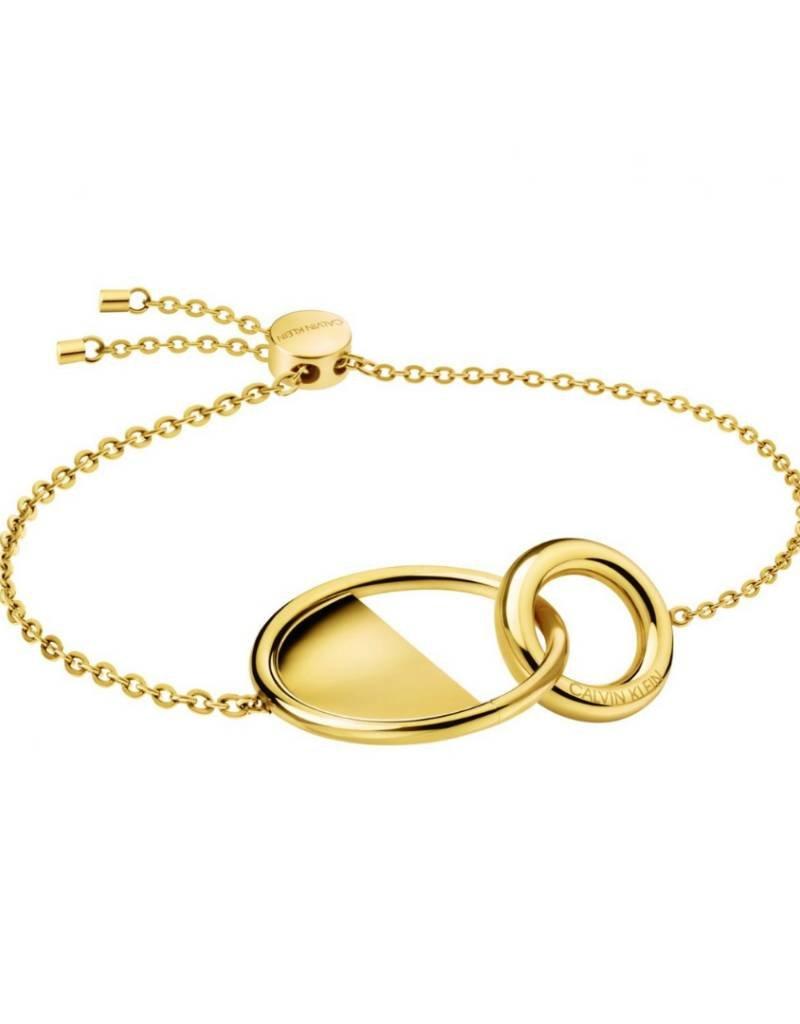 Calvin Klein Calvin Klein - Gold Plated Locked Bracelet